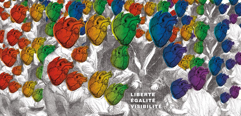 Illustration Marche des visibilités - D'ailleurs - Studio de design graphique éthique